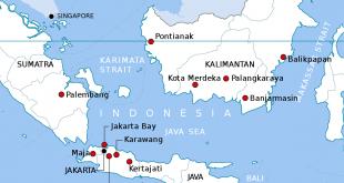 Presiden Indonesia dengan rasminya mencadangkan ibu negara ke Kalimantan, Borneo