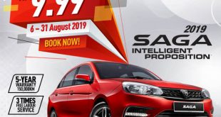 Proton Saga 2019 dengan harga dari RM 32,800 sehingga RM 39,800