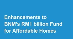Dana RM 1 bilion bagi Rumah Mampu Milik oleh Bank Negara Malaysia