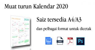 Muat Turun Kalendar 2020 Boleh Cetak – Cuti Umum dan Cuti Sekolah