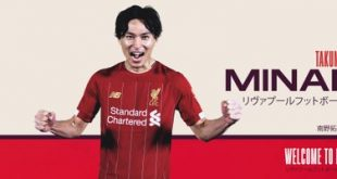 Liverpool tandatangan penyerang Jepun untuk Januari 2020